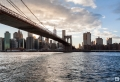 Manhattan mit Brooklyn Bridge